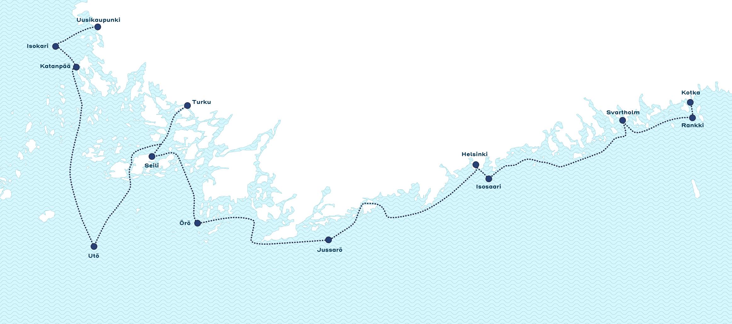 Hurttireitti saaristo kartta